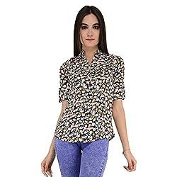 Terquois Printed Cotton Shirt(222_Black_XL)