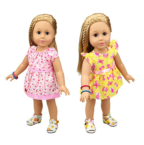 HappyBB Baby Doll Clothes Skirt Fits 14 inches American Girl Doll - 2 PCS Floral Dress (Bitty Baby Sewing Patterns compare prices)