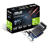 ASUS Nvidia GeForce GT 710 2GB 64-Bit DDR3 PCI Express Graphic Card / PCI-E 2.0 / 2GB / DDR3 / 64 Bit / D-SUB/DVI-D/HDMI / HDCP support/ Low Profile / 192 Cuda Core / Direct X 12 / Silent passive cooling/ AUTO-EXTREME Technology