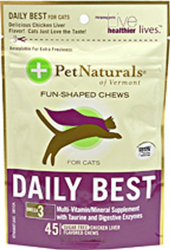 Pet Natural'S Of Vermont Daily Best,Cats,Softchew 45 Ct 1-Ea