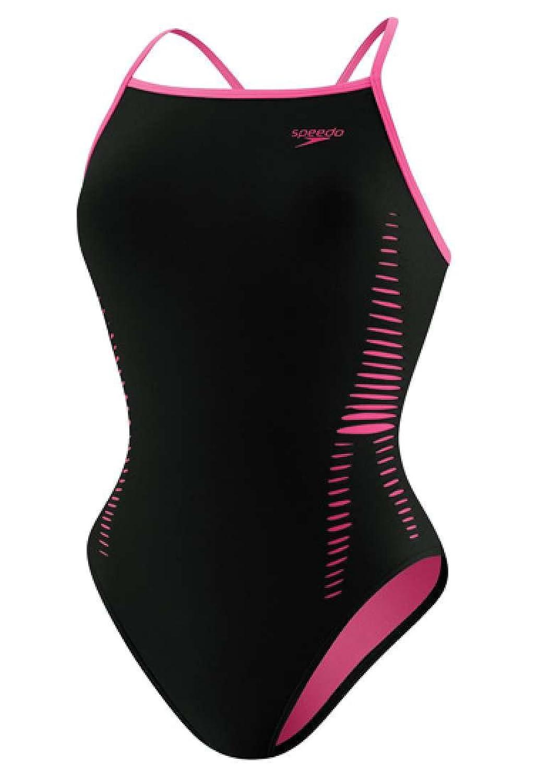 Speedo Women's Flipturns Extreme Back Laser Cut Endurance Lite Performance Swimsuit speedo women s race endurance polyester flyback training swimsuit