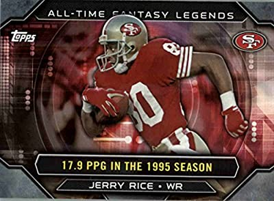 2015 Topps All Time Fantasy Legends #ATFLJR Jerry Rice - San Francisco 49ers (NFL Football Card)