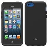 Acase Dual Layer iPhone 5C Case / Cover (Apple iPhone 5C) - Superleggera Pro Fit for New iPhone 5 (iPhone 5C, Black)