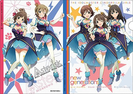 THE IDOLM@STER シンデレラガールズ クリアファイル (A)new generations・*(Asterisk)