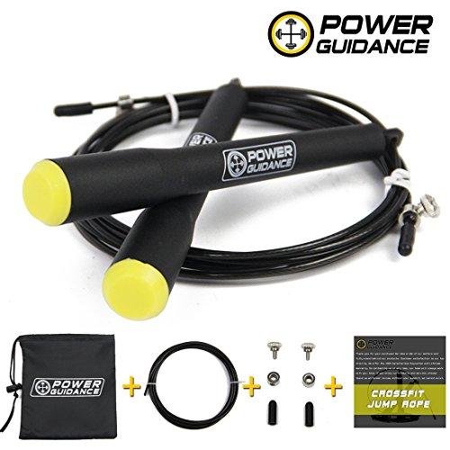 Corda da salto - Ultra Speed Cable veloce - per allenamento quotidiano, Crossfit e Boxe Training - Viene fornito con un cavo libero supplementare - Garanzia a vita