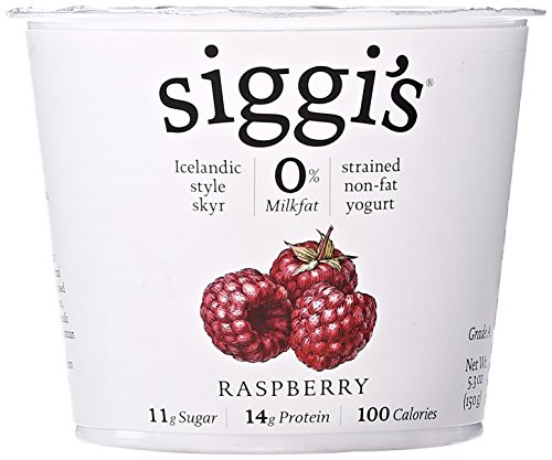 Siggis Fat Free Raspberry Yogurt, 5.3 Oz