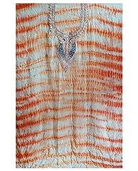 Orange Color Gotta Patti Necklace Work Kurti Dress Material