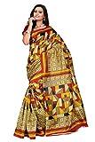 MEGHALYA Multi Color Women's Bhagalpuri Silk Saree With Blouse Piece.
