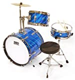 TKO 99TKO99PB 3-Piece Junior Drum Set,  Prism Blue