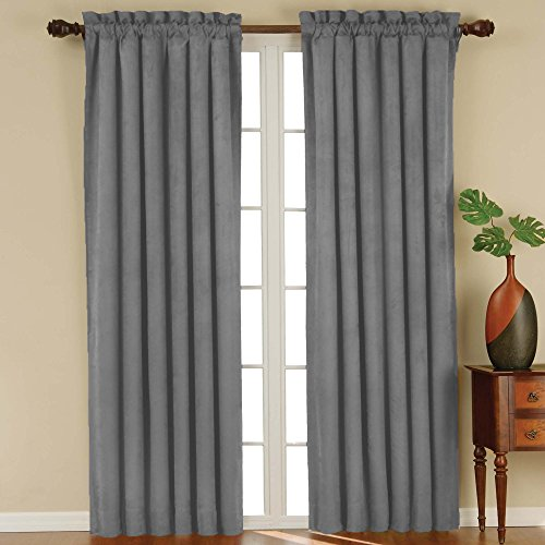 Eclipse Suede Blackout Window Curtain Panel 84 Inch