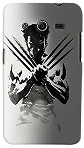 PrintVisa Movies Wolverine Case Cover for Samsung Galaxy Core 2
