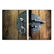 buy Luxlady Large Tablemats Close Up Vintage Black Latch On Wood Cupboard Image 28077373 Customized Art Home Kitchen