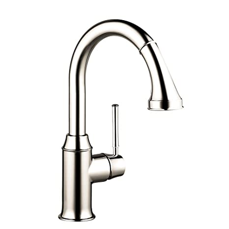 Hansgrohe 04216830 Talis C Prep Kitchen Faucet with Pull Down 2-Spray, Polished Nickel