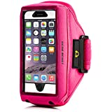 Gear Beast Case Compatible Sports Armband For Otterbox Commuter / Defender Cases For Apple iPhone 6 Plus (5.5 Inch), Samsung Galaxy Note 4 / 3 / 2 & Galaxy S5 Active & More (Hot Pink)