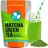 Matcha Green Tea Powder - Best for Smoothies, Lattes, Drinks, Baking, Cooking, Desserts - Energy Booster, Calorie Burner, Fat Metabolizer, Skin Therapy. 100% Pure USDA Organic Culinary Grade - 4oz / 113g - up to 48 servings - Includes Free Recipes Cookbook