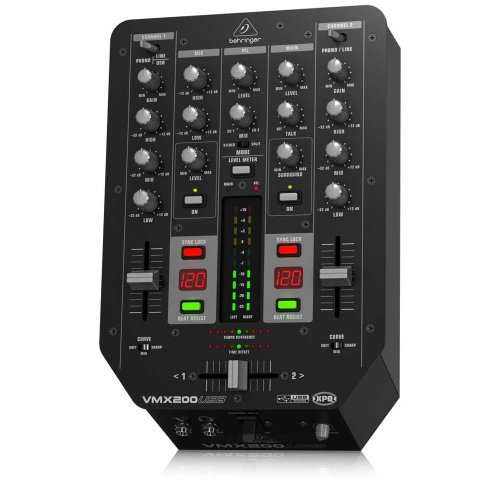 Behringer Vmx200Usb Professional 2-Channel Dj Mixer With Usb/Audio Interface