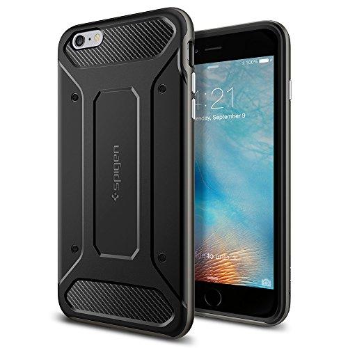 Spigen iPhone6s Plus ケース / iPhone6 Plus ケース, ネオ・ハイブリッド カーボン  [ 米軍MIL規格取得 二重構造 TPU カーボンテクスチャー ] アイフォン6s / 6 用 (ガンメタル SGP11666)