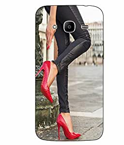 Case Cover Heels Printed Red Hard Back Cover For Samsung Galaxy J2 2016 Edition / J2 Pro