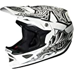 Troy Lee Designs Aztec D3 Composite Bike Race BMX Helmet - White / Medium