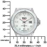 TKO ORLOGI Women's TK501-WT Venetia Plastic Case and Rubber Strap Watch