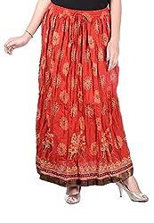 Nisba Fashions Women's Skirt (LS3_Red_Medium)