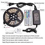 WenTop Led Strip Lights Kit Waterproof SMD 5050 16.4 Ft (5M) 300leds RGB 60leds/m with 44key Ir Controller and 12V 6A Power Supply for Kicthen Bedroom Sitting Room and Outdoor by FoxKonn