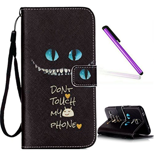 Samsung Galaxy S5 mini Case, S5 mini Case, EMAXELER PU Leather Wallet Flip Protective Skin Case with Magnetic Closure for Samsung Galaxy S5 mini(Built-in Credit Card/ID Card Slot)--Cat Green Eyes (Samsung Galaxy Mini Girl Cases compare prices)