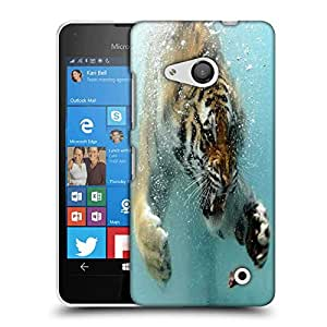 Snoogg Amazing Tiger Shark Designer Protective Phone Back Case Cover For Nokia Lumia 550