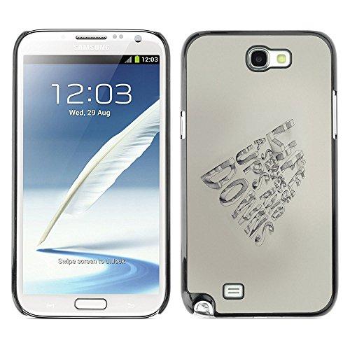 ZABU Prämie Slim Dünn Schutz Hülle Tasche Slim Case Cover Armor PC / Aluminium // quote pen paper hand motivational // Samsung Note 2