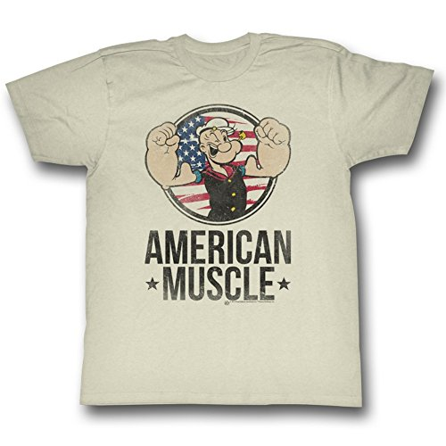 Popeye The Sailor Man 1960's Cartoon Vintage Style American Muscle Adult T-Shirt