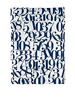 Angel Schlesser Colcha Numbers (Blanco / Azul)