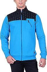 RGT Men's Fleece Regular Fit Sweatshirts (RGT7025BLUE-XXL)