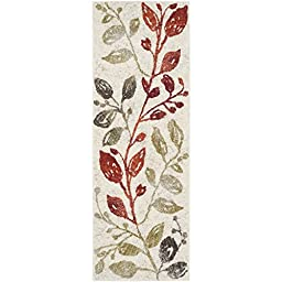 Safavieh Porcello Collection PRL4824C Ivory and Green Runner, 2 feet 4 inches by 6 feet 7 inches (2\'4\