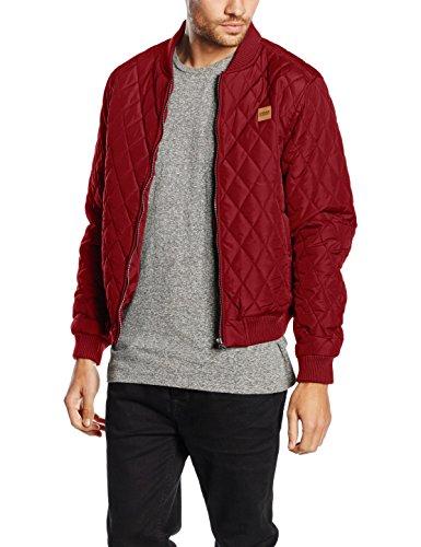 Urban Classics Diamond Quilt Nylon Jacket-Giacca Uomo    Rot (burgundy 606) Large