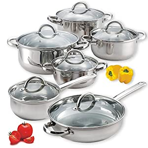 2 X Cook N Home 12-piece Stainless Steel Set
