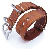 22mm MiLTAT G10 Grezzo Zulu watch strap Mahogany BL