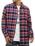 (コスビー) cosby 大きいサイズ シャツ メンズ チェックシャツ 長袖 セット Tシャツ付 ネルシャツ 2color 3L レッド