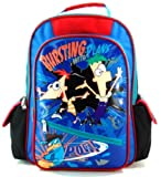 Phineas & Ferb Backpack | 16in Large School Bag - Bursting Plans | @ Sunset Jungle