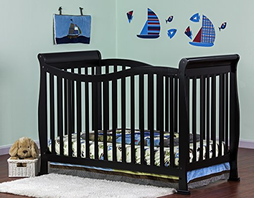 Fantastic Deal! Dream On Me Violet 7 in 1 Convertible Life Style Crib, Black