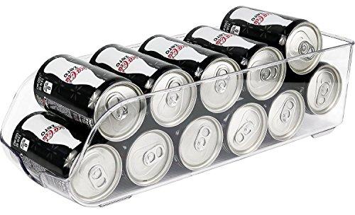 Greenco Stackable Refrigerator and Freezer Drink Holder Storage Bin, 13.5