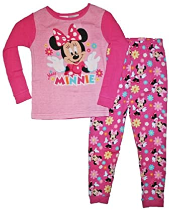 Minnie Mouse Toddler Girls 12M-5T Cotton Sleepwear Set (18 Months, Pink)