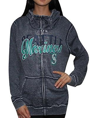 Womens SEATTLE MARINERS Athletic Zip-Up Jacket (Vintage Look)