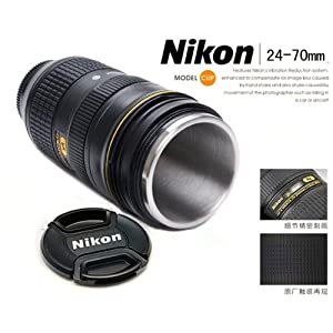 Nikon af s 24 70mm f 2 8 1 1 thermos travel Nikon camera lens coffee mug