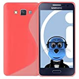 ITALKonline Samsung Galaxy A3 SM-A300F Pink TPU S Line Wave Hybrid Gel Skin Case Protective Jelly Cover