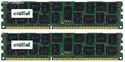 Crucial 32GB Kit (16GBx2) DDR3/DDR3L-1600 MT/s (PC3-12800) DR x4 RDIMM Server Memory CT2K16G3ERSLD4160B / CT2C16G3ERSLD4160B