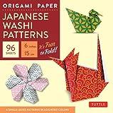 Origami paper japanese washi patterns small 6 96 sheets...