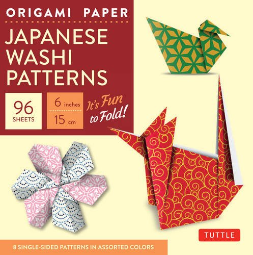 "Origami Paper - Japanese Washi Patterns - 6"" - 96 Sheets: (Tuttle Origami Paper)"