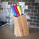 Domestic Corner - Universal Bamboo Knife Block