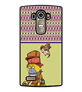 PRINTVISA Cartoon Premium Metallic Insert Back Case Cover for LG G4 - D5978