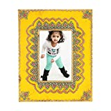 Home And Bazaar Ethnic Rajasthani Handpainted Photo Frame - Yellow